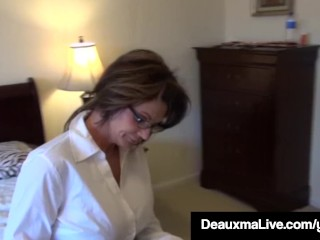 Texas mother Deauxma As A A Census Taker drills Brooke Tyler! free sex