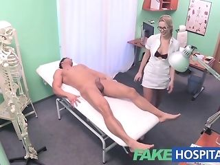Towheaded nurse gives a faux health center patient a gorgeous approach pornvideo