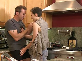 Luxurious milf India Summer coupled with one young chick are fucked by hot blooded dude