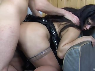 Fatty brunette milf sucks young learn of to comprehend anal fuck