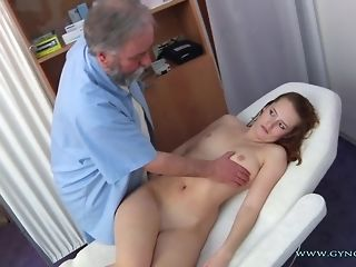Long-legged Haymaker Czech nymph Comes To elder Paunchy obgyn medic freesex