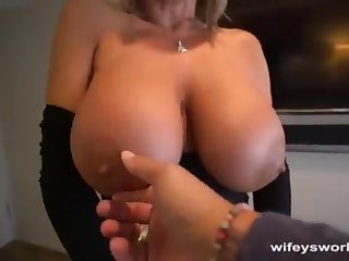 Their way Boobs Juggle and She Guzzles Every Droplet