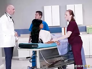 Buxom dark-hued woman with a adorable tat, Mary Jean is enticing her doctor's massive man-meat, in his meeting