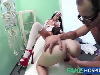 Spy Web Cam Filmed Immoral And Randy Three-Way Fuck-Fest With Horrific Medic